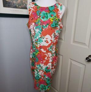 Alyx Limited Floral Print Sheath Dress Size 16.
